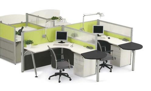 Modern Aluminum Glass Wooden Cubicle Workstation / Office Partition (NS-NW014)