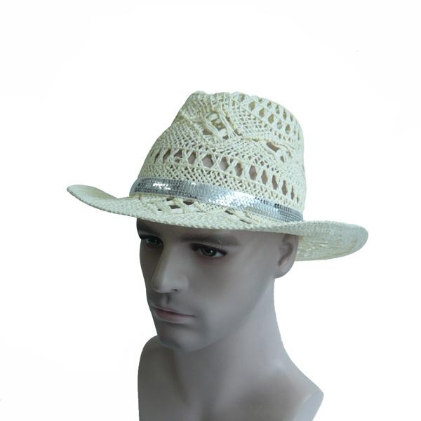 Fashion White Straw Cap