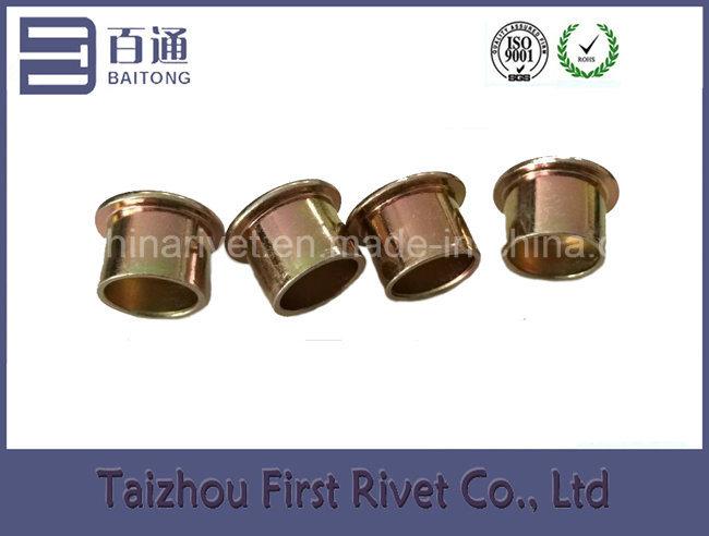 12.7X10mm Zinc Plated Flat Head Semi Tubular Steel Rivet