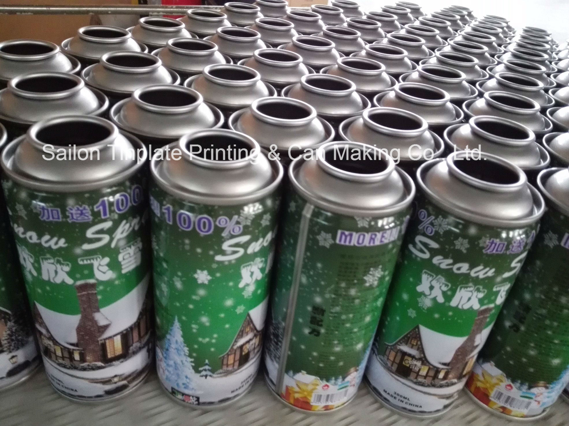Packaging Tin Cans for Spray Snow and Spray String
