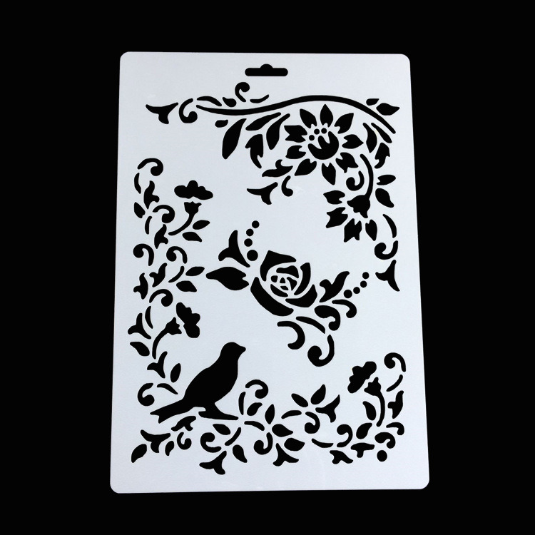 Customized Shaped Drawing Christmas Stencils