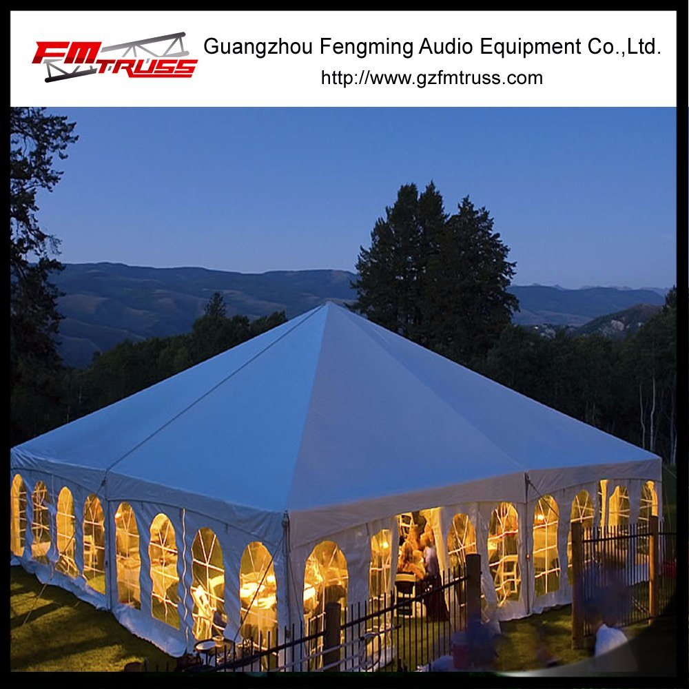 20mx 50m Outdoor Garden Wedding Marquee with Transparent Roof and Clear Wall Tent