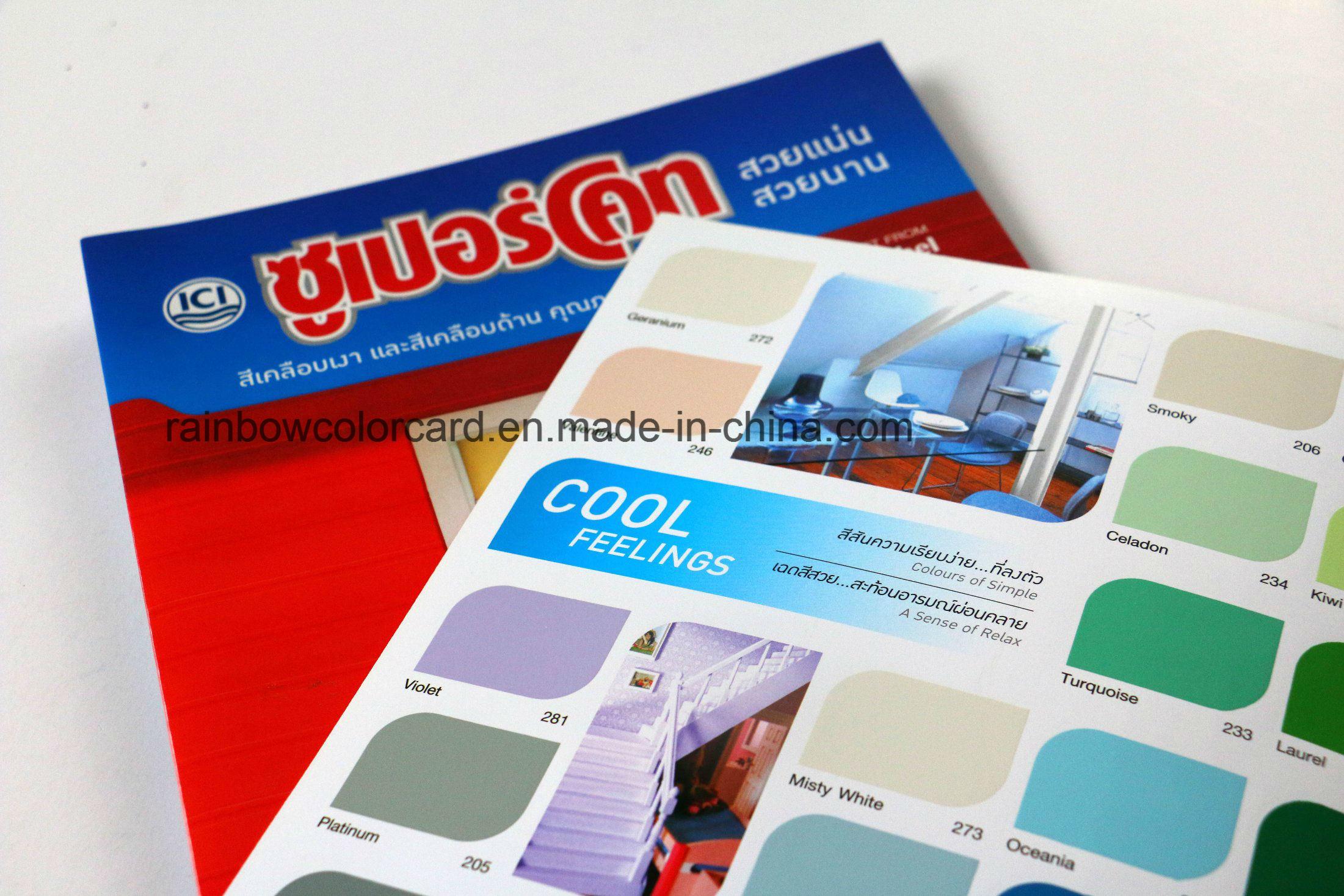 Promotional Pantone Colours of Oil-Base Paint Color Card