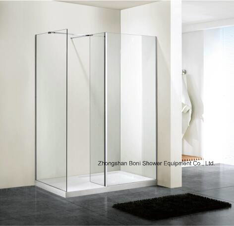 Bathroom 6mm Glass Wetroom Shower Wall with Side Panel (BN-WR100)
