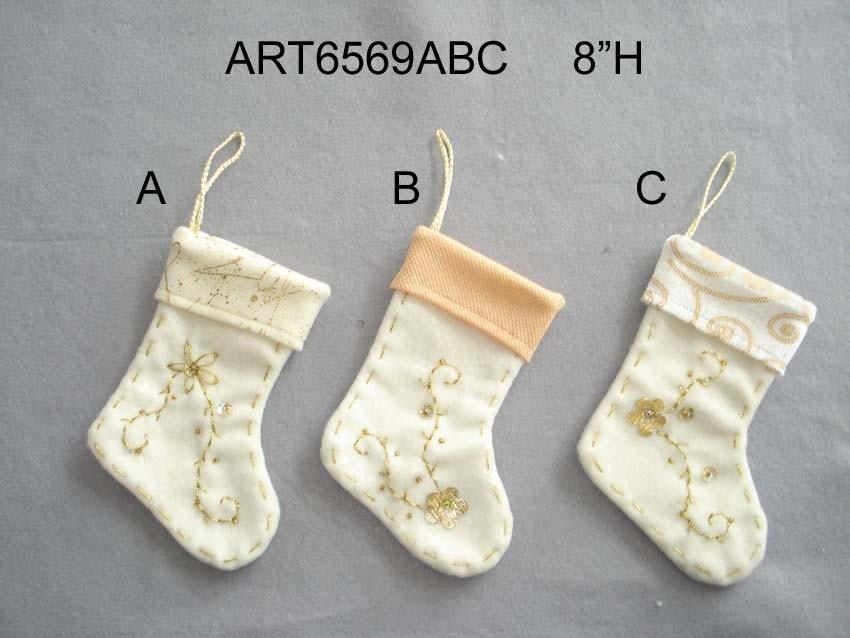 Christmas Home Decoration Angel Stocking, 2asst