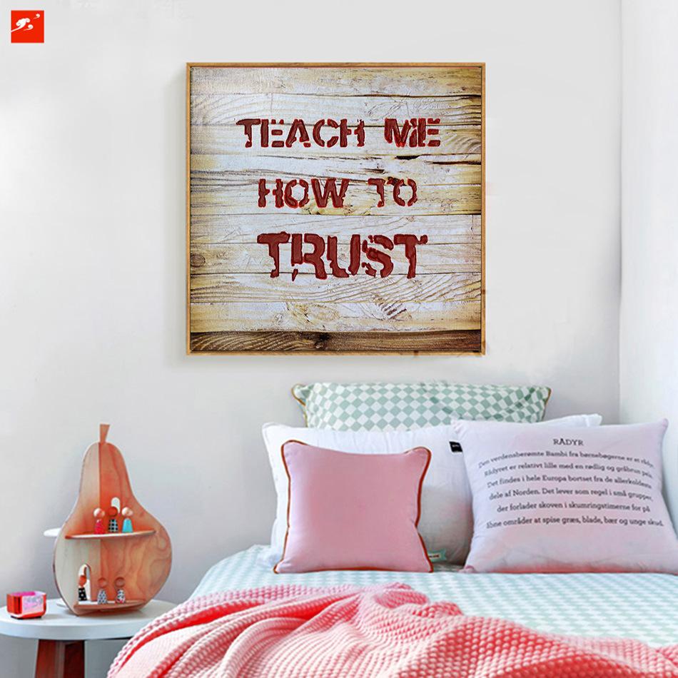 Modern Text Wood Wall Decor