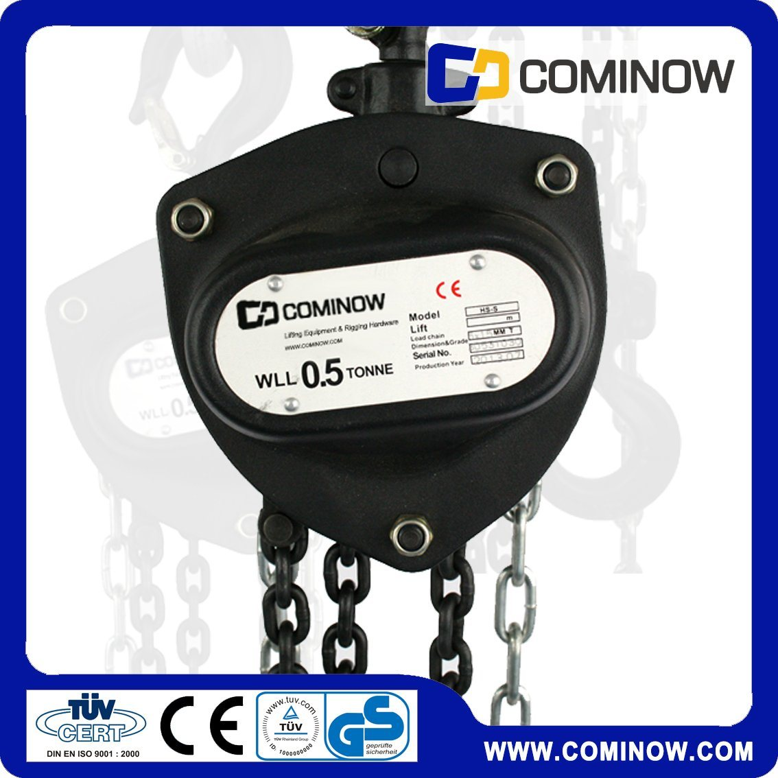 HS-CB Type Manual Chain Hoist / Hand Chain Block