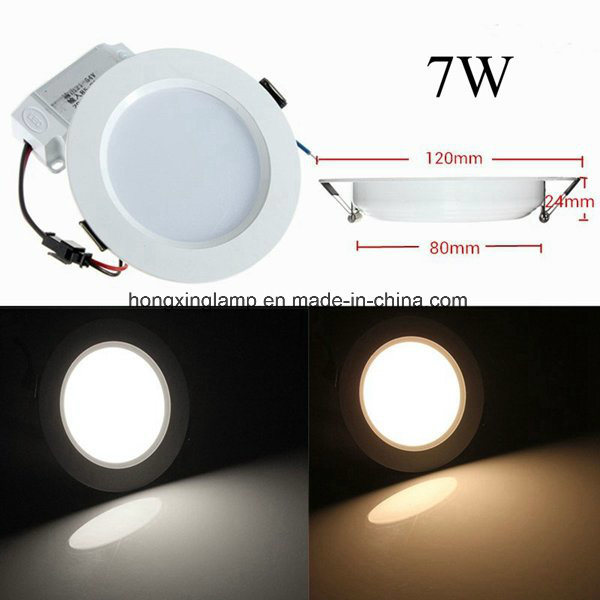 Dimmable SMD2835 Slim LED Panel 7W 12W 18W Round Ceiling Lamp with Ce Bis