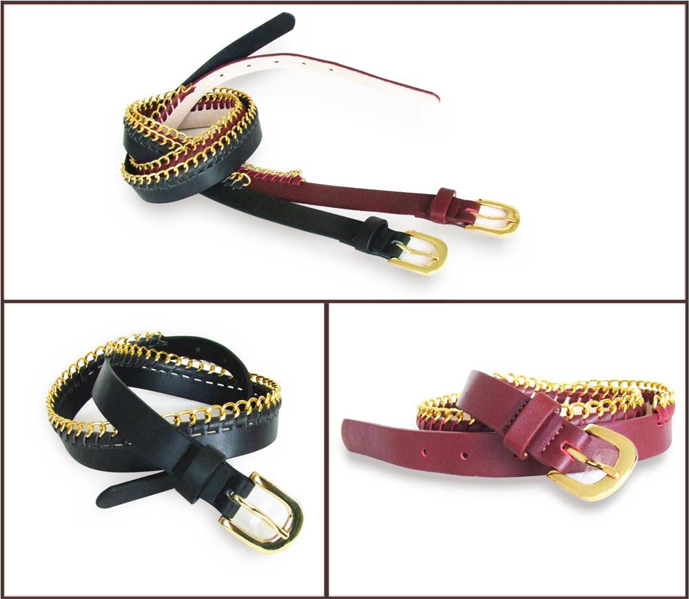 Genuine Leather Chain Fashion Belt