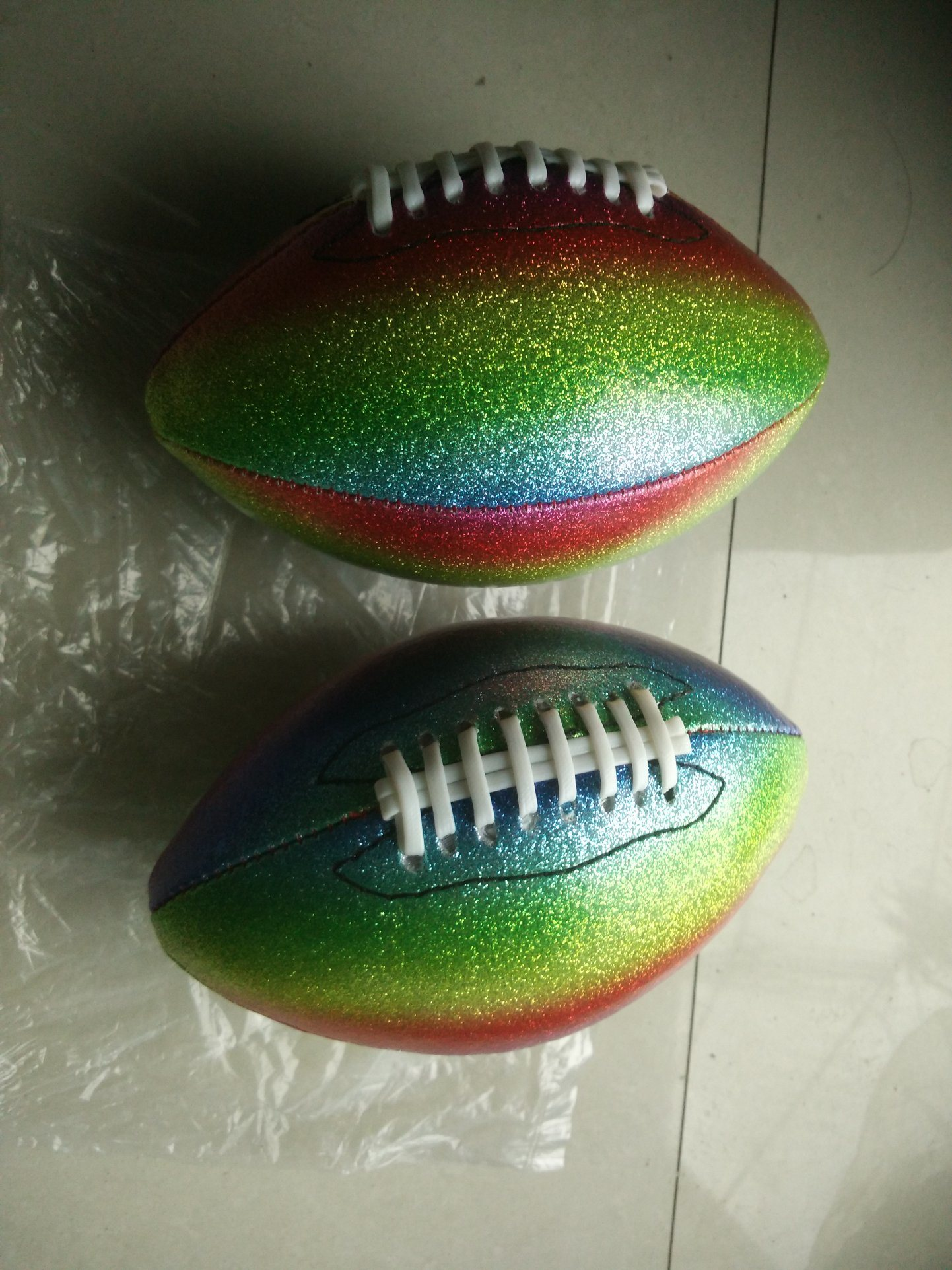 1# PVC Machine Stitching Flash American Football