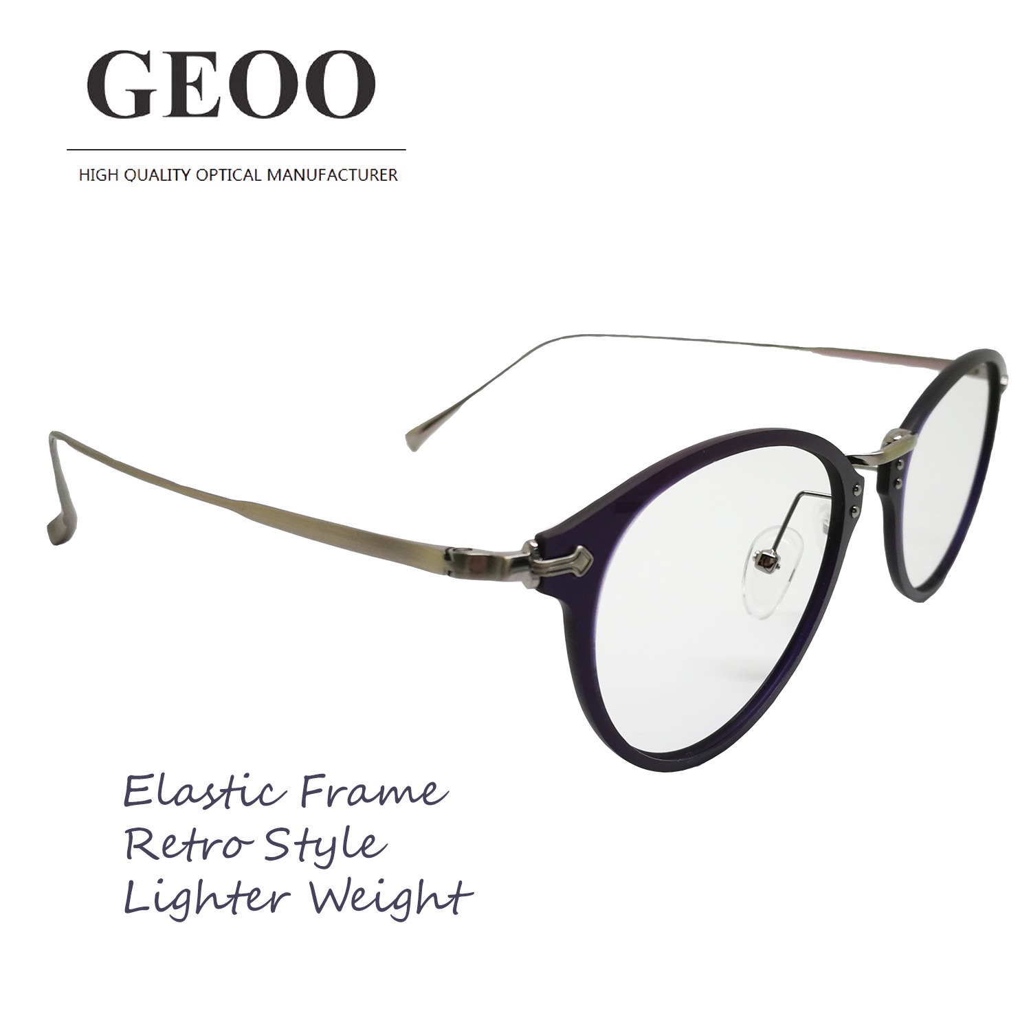 Tr + Stainless Lamination Retro Optical Frame (XA0261F-04)