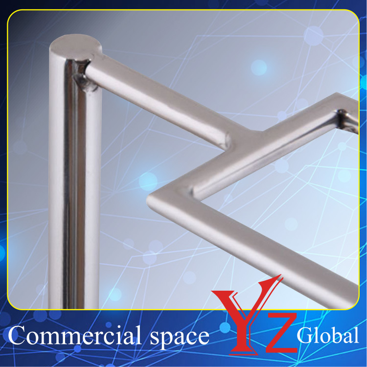 Tie Display Stand (YZ161520) Stainless Steel Storage Rack Tie Display Rack Tie Hanger Rack Belt Rack Accessory Rack Scarf Rack