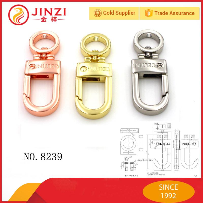 Handbag Accessories Special Color Custom Logo Engraved Snap Hook