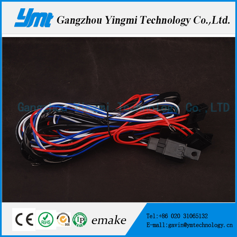 4 Connectors Automotive Wire Harness 108W Light Bar Cable Harness