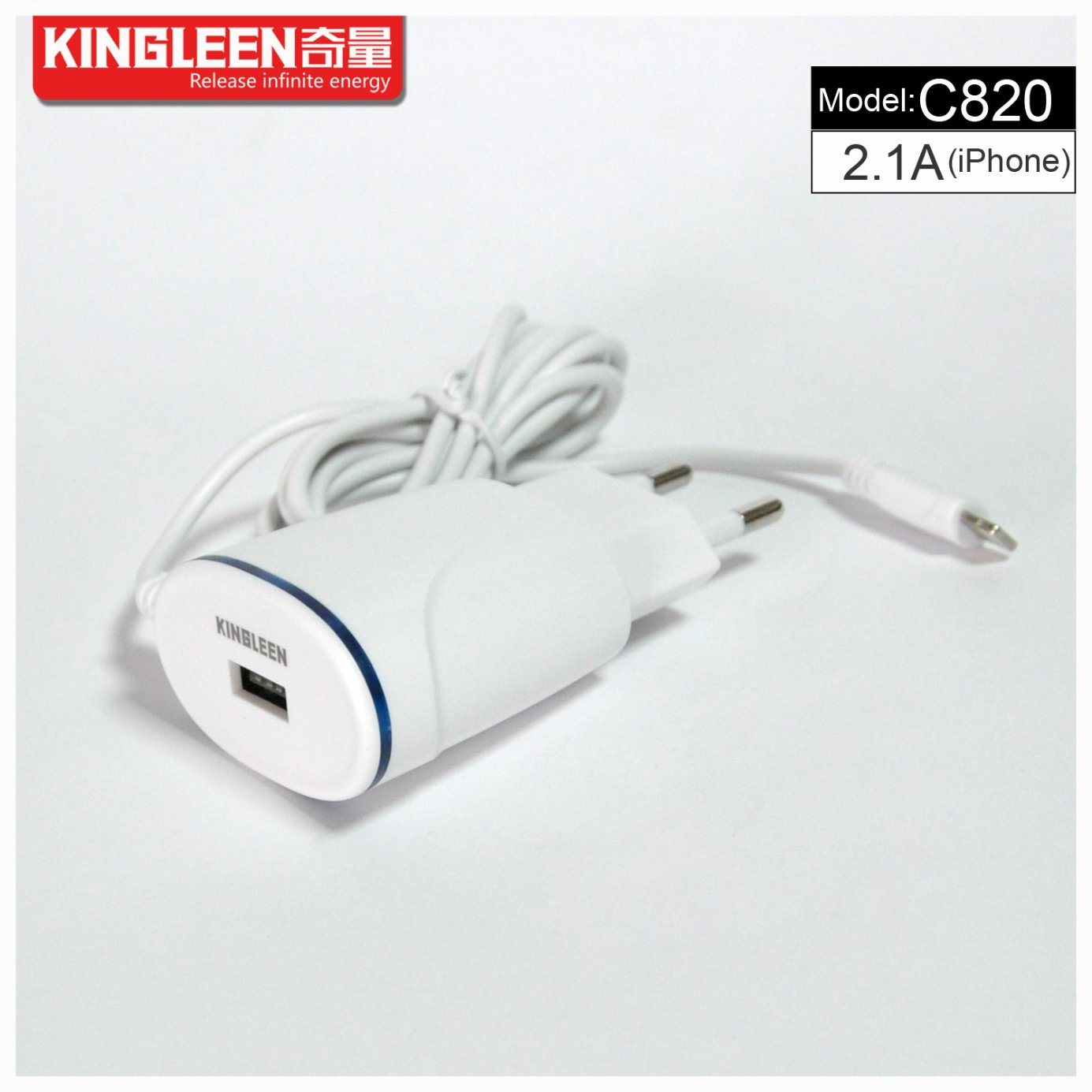 Kingleen ′c820 Intellgent Direct Charger for iPhone 5V-2.1A High Quality Charger Export to Europe
