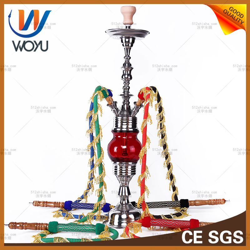 Electronic Cigarette Shisha Nargile Stainless Steel for Loung Bar Red Hookah