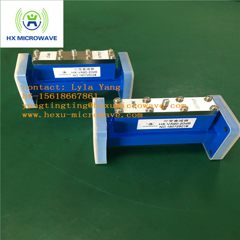 Hexu Microwave Wr90 Tunable Waveguide Attenuator