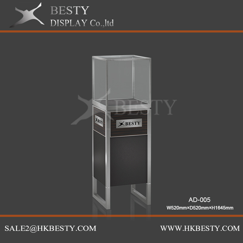 Aluminium Tower Display Showcase for jewelry Shop