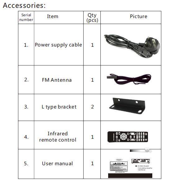 Public Address Mixer Amplifier with CD/DVD, USB, SD, FM, Bluetooth, Echo Se-80u Series