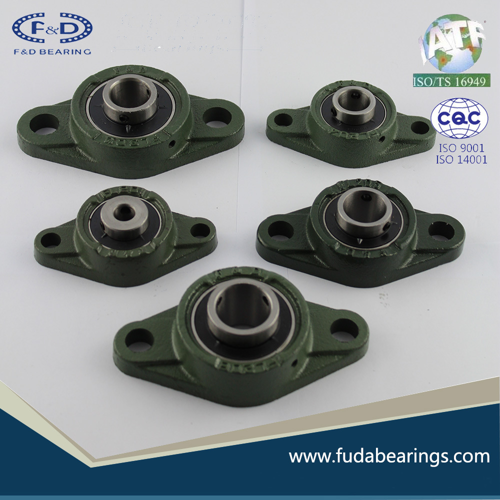 UCFL218 Chrome Steel Grey Cast Iron Housing Pillow Block Bearing for Agricultural Machinery