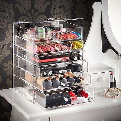 Wholesale Custom Black Acrylic Makeup Organizer with Logo