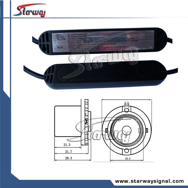 Warning Car LED Hideaway Kits Strobe Lights (LED307-12)