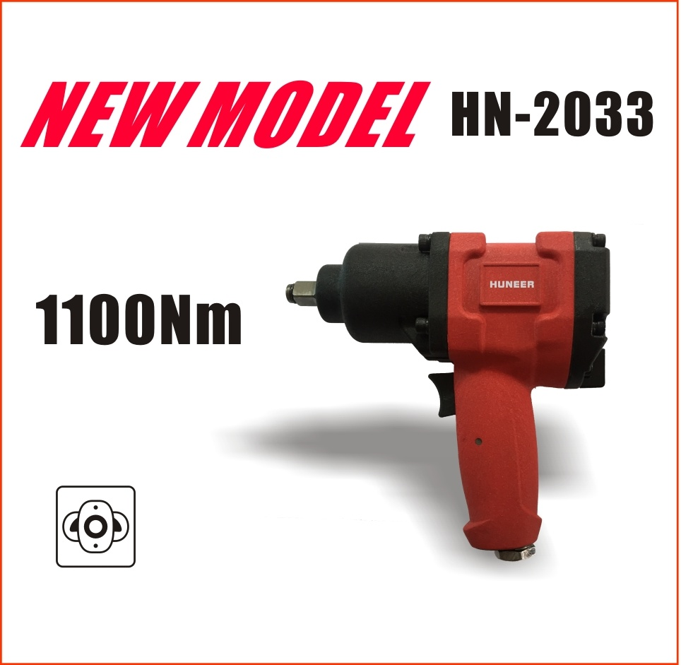 """1/2"""" Heavy Duty Pneumatic Tools with 1100nm Max Torque (new model: HN-2033)"""