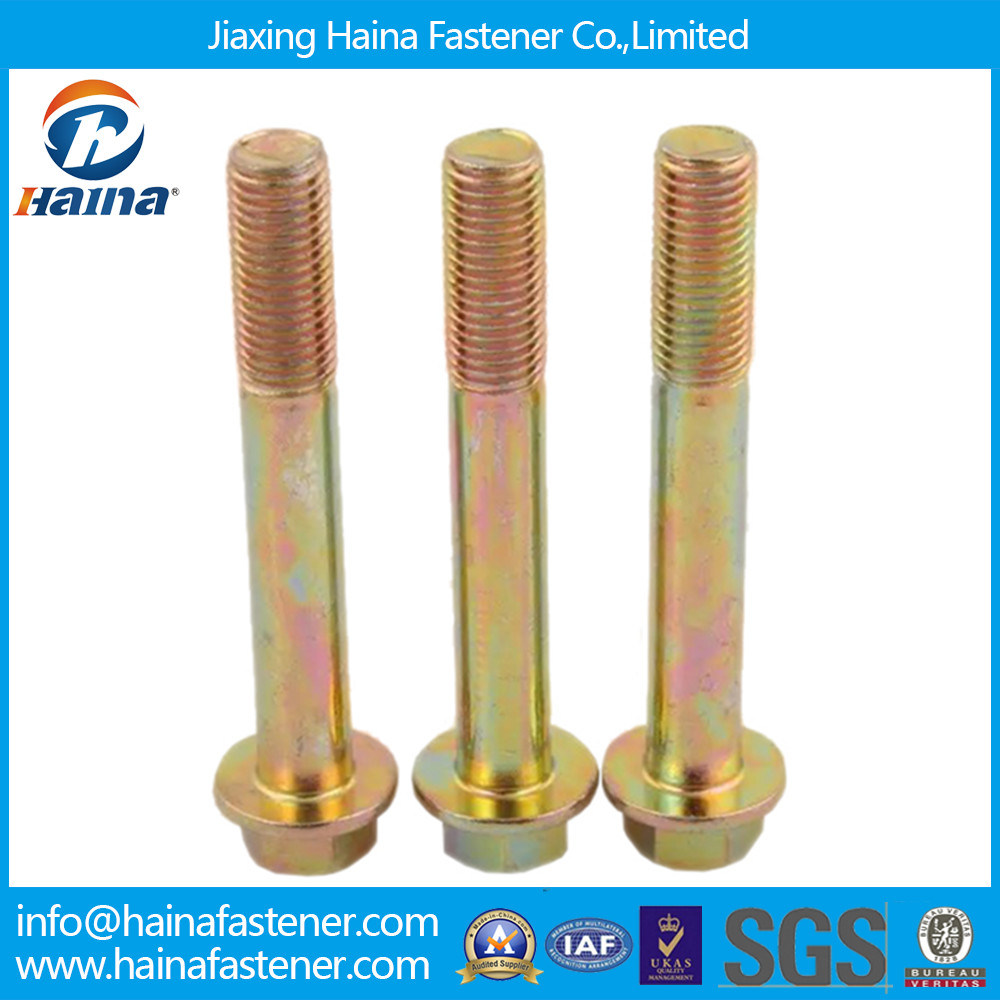 Zinc Plated DIN6921 Without Serrated Hex Flange Bolt
