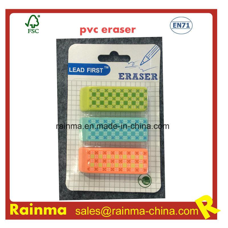 High Quality Beveled PVC Eraser with Nice Design