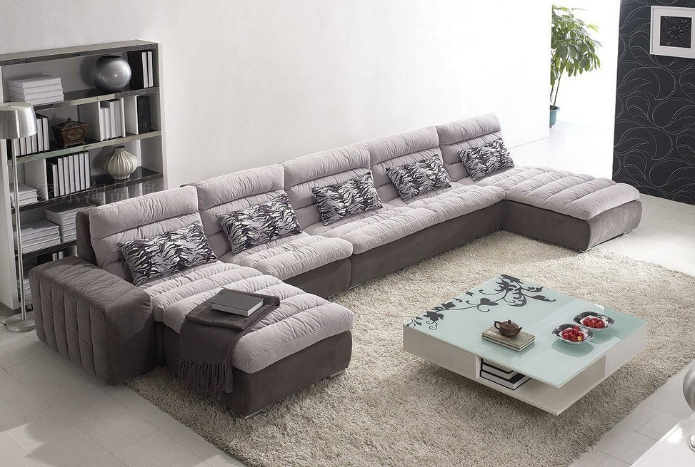 Chinese furniture combination sofa hotel modern sectional for Sofas modernos en l