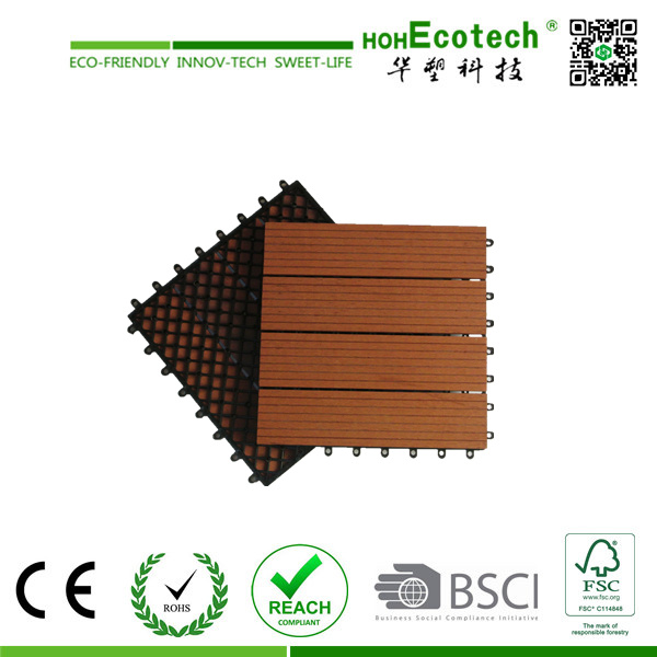 Eco-Friendly Wood Plastic Composite (WPC) Decking Tile (30S30-5)