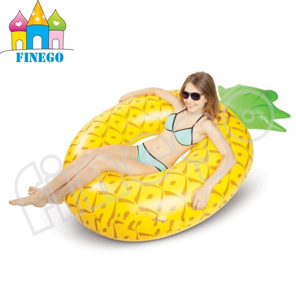 Inflatable Pineapple Air Floating Donuts Pool Floats Swim Ring