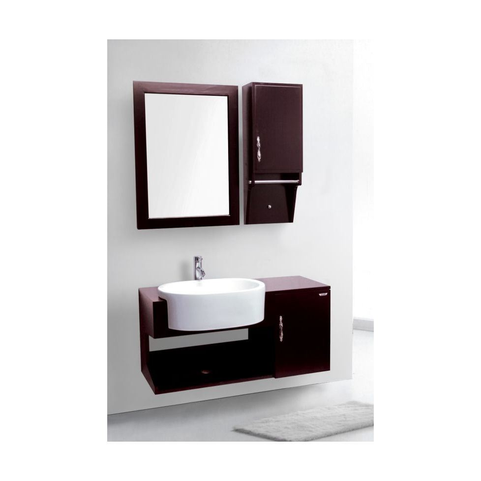 China Modern Solid Wood Bathroom Mirror Cabinet Jz007