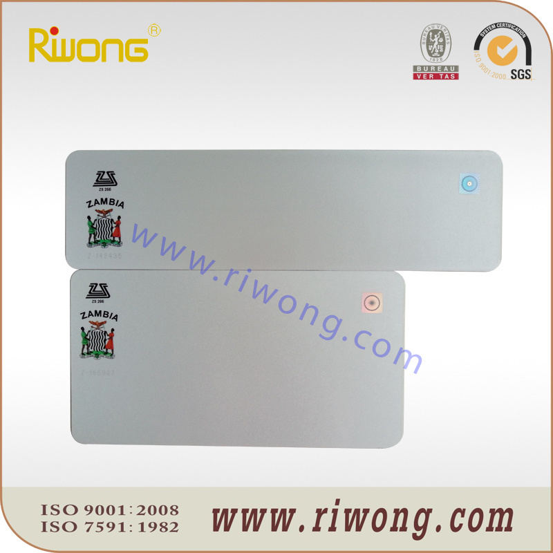 Plain Aluminum Number Plate with Reflective Sheet