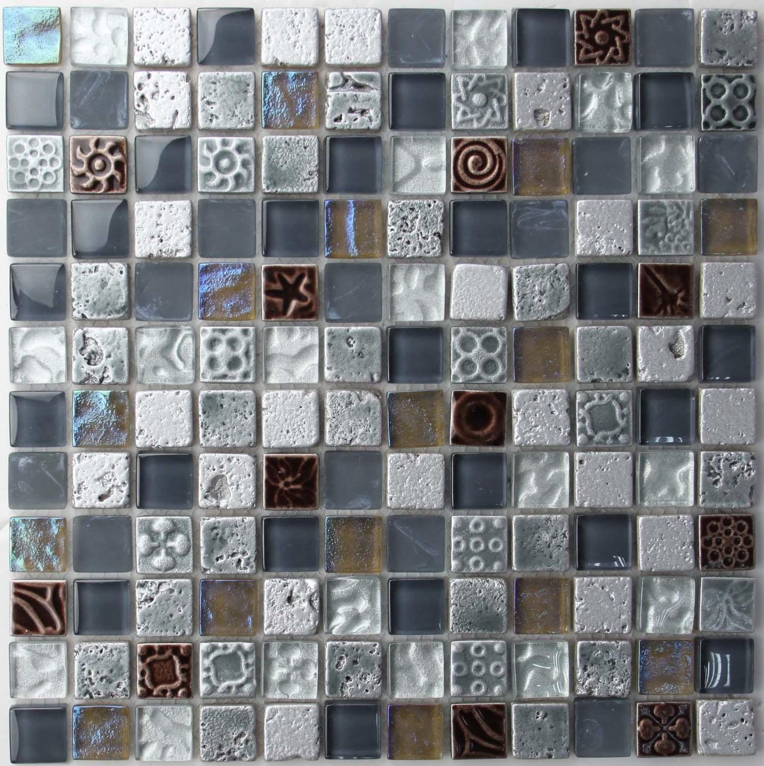 Azulejos de mosaico de cristal de la textura gh0008 - Azulejos de cristal ...