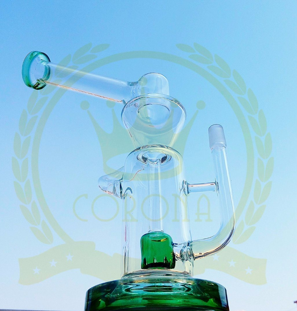 Glass Mothership Mini Matrix Perc Shisha Thick Smoking Water Pipe Oil Rig Pyrex Hookah Hand Blown Heady Tobacco Bubblers Wholesale