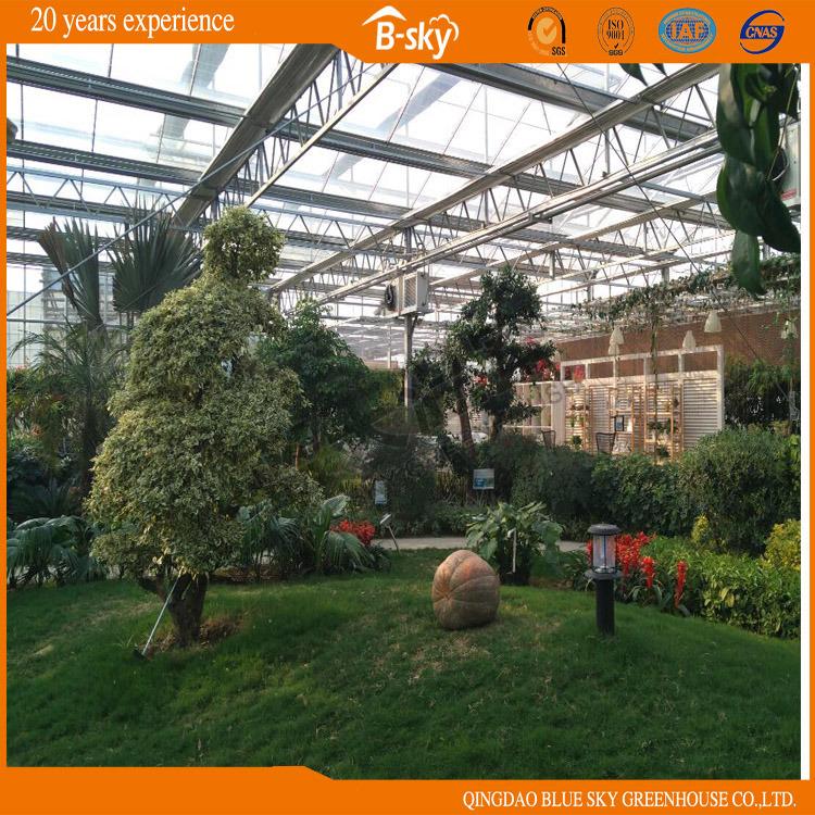 Good Appearance Long Life Span Glass Multi-Span Greenhouse