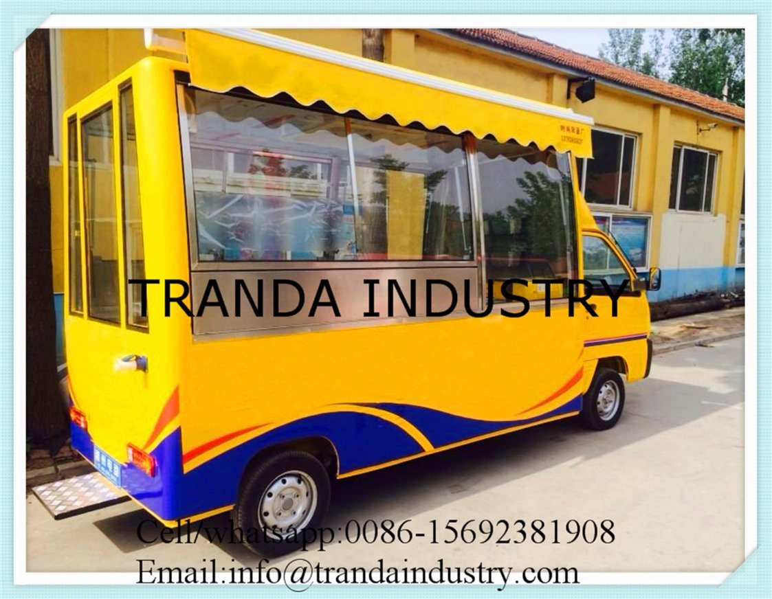 Corn Roasterpizza Kiosks BBQ Ovenmobile Buffet Car with Awnings