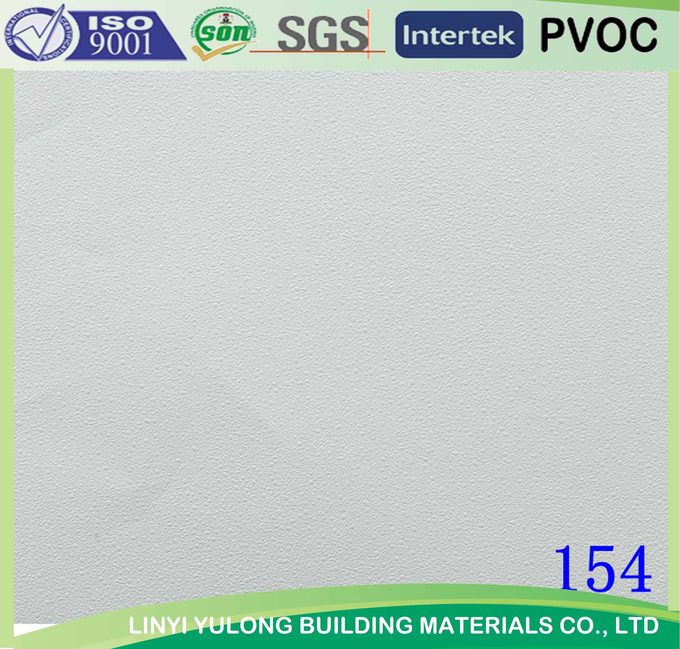 Gypsum Ceiling Tile with PVC and Aluminum