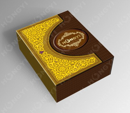Brown Embossed+Glossy Custom Perfume Box for Gift, Food Packaging (HYP016)