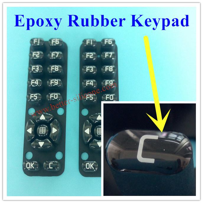 Customized Elastomeric Silicone Rubber Remote Control Keyboard Keypad