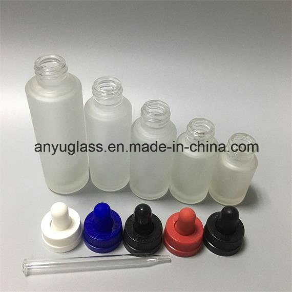 Hot Sale Frosted Dropper Glass Bottles for Essential Oil 30ml