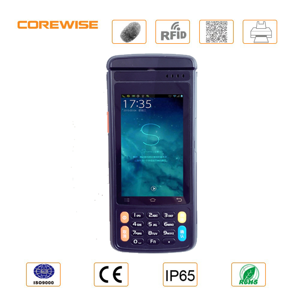 Android Magnetic Card Reader with Single Card Slot and Free Sdk, POS Terminal with Fingerprint Reader