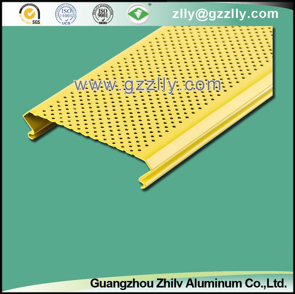 Good Sales C-Shape Aluminium Baffle Ceiling, Closed Linear Ceiling