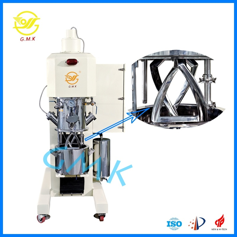 Top Li-Thium 60L Anode Battery Paste Mixing Double Planetary Disperser Mixer