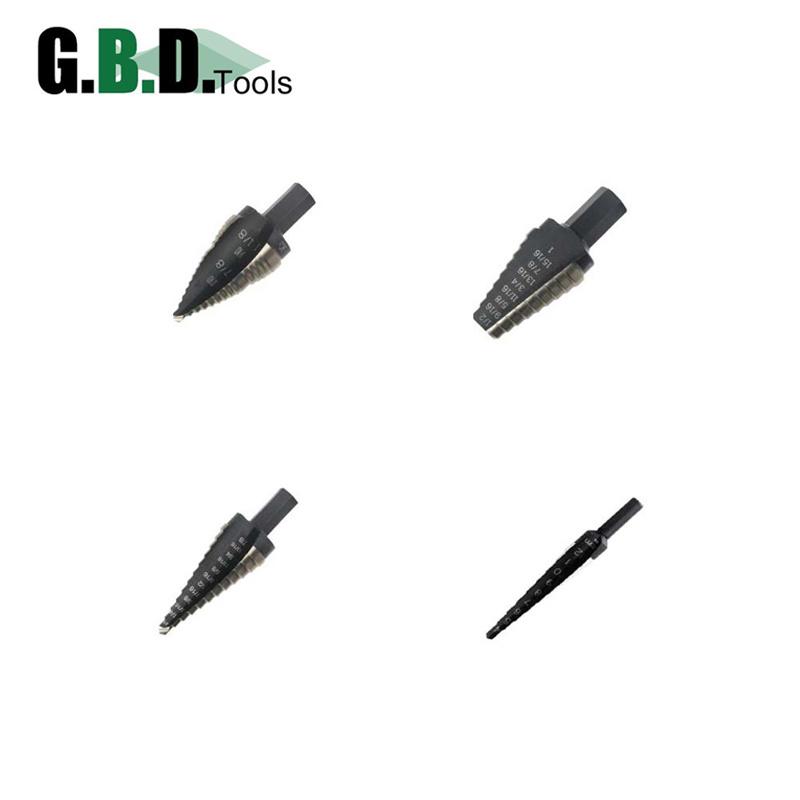 Radial Concave Flute Step Drill Bit M35/M2 Grade Cobalt HSS
