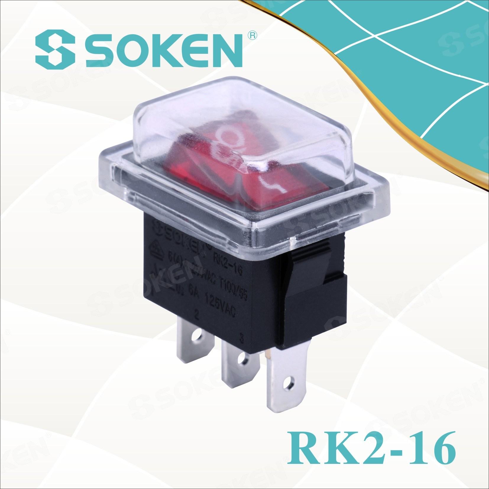 Sokne Rk2-16 1X1n Waterproof on off Rocker Switch