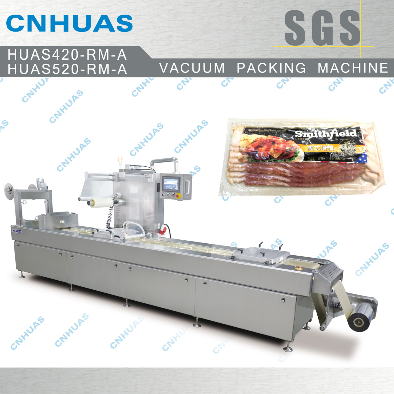 Automatic Stretch Film Vacuum Packing Machine for Food