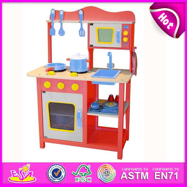 Kitchen Set Toys For Sale: China 2014 New Wooden Play Kitchen, Popular Kids Toy Play