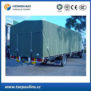 Green Color Truck Cover Durable Canvas Woven Fabric Tarpaulin